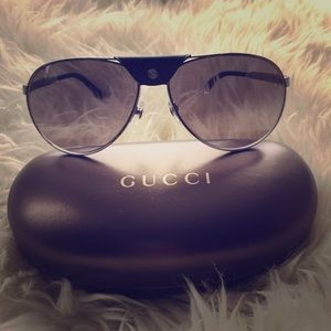 Authentic Gucci Aviators with case