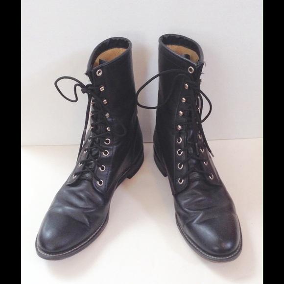 943cef3df0da8 CLASSIC BLACK JUSTIN COMBAT BOOTS (WOMEN'S)