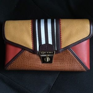 "Henri Bendel ""The Brown & White Plus Clutch"""