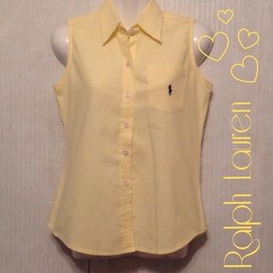 Ralph Lauren Tops - RL sleeveless button up