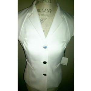 White Calvin Klein Suit Jacket