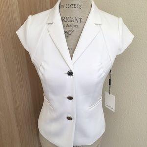 White Calvin Klein Suit Jacket