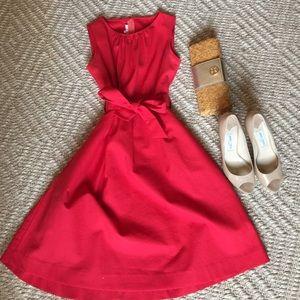 Red Pique Kayce Hughes sleeveless dress