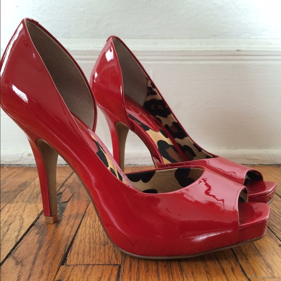 Jessica Simpson - *moving sale: Jessica Simpson red peep toe pumps ...
