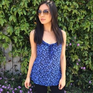 Blue Patterned Tank