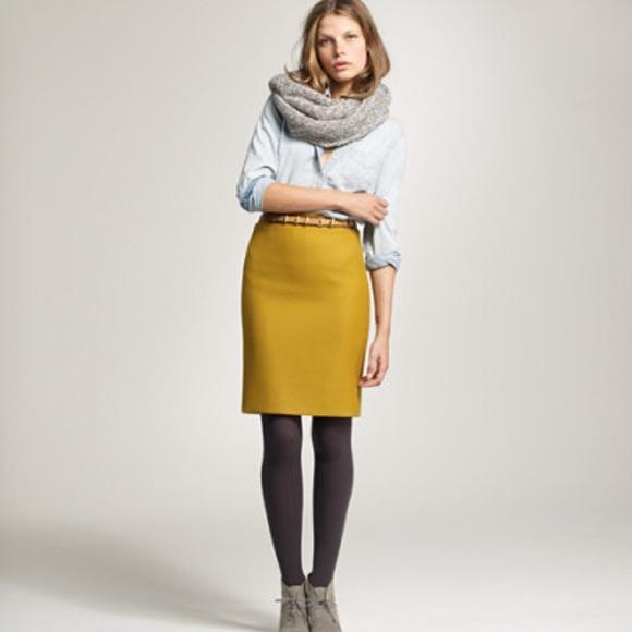 6f4350527154 J. Crew Dresses   Skirts - J Crew Factory Wool Pencil Skirt- Olive