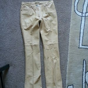 Leather Butter yellow Pants