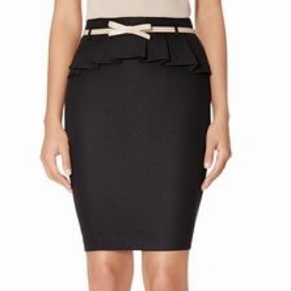 The Limited Dresses & Skirts - Bow belted peplum pencil skirt