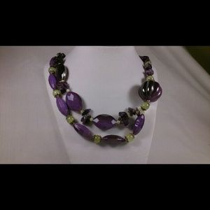 Amethyst  Necklace Hand Crafted Jewelry