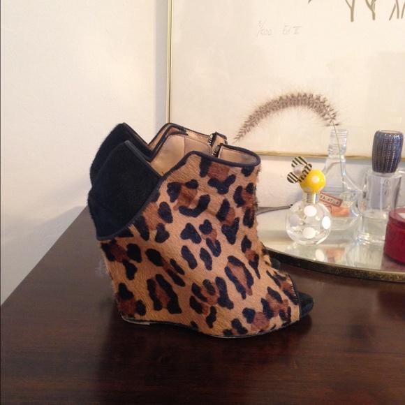 Zara Boots - Leopard booties size 8