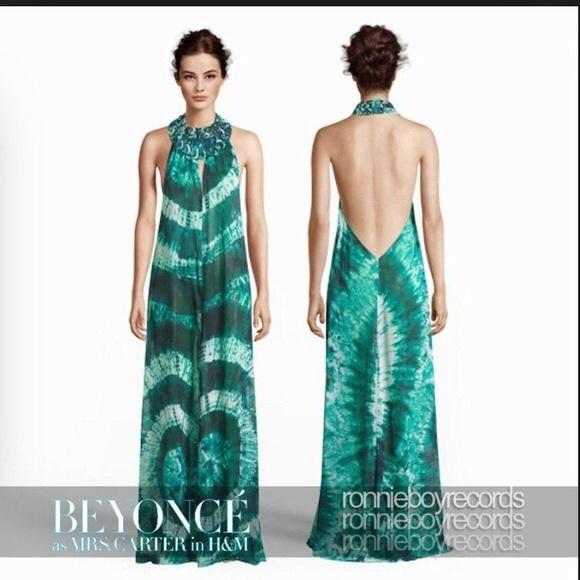 h m dresses long blue sheer cover up poshmark