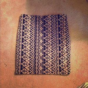 Forever 21 Aztec Print Skirt
