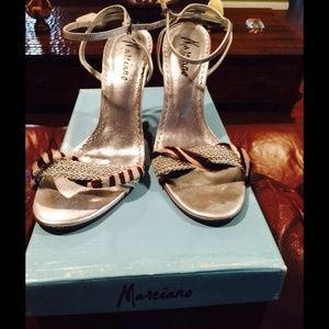 Silver and leopard material by Guess Marciano.