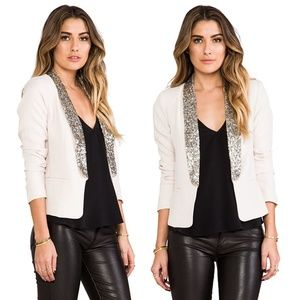 NWT BB Dakota Nude Sequin Blazer