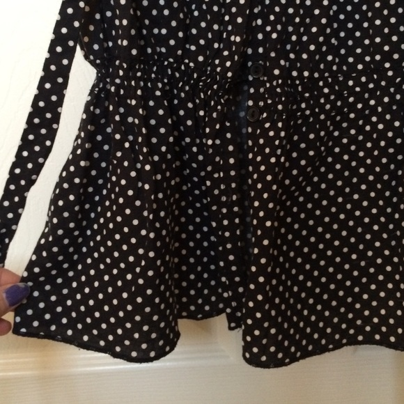 Grey and White Polka Dot Shirt with Grey Skinny Jeans