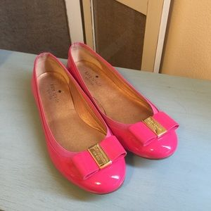 Kate Spade Patent Bow Flats