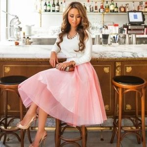 $30 🌟🌟 Pink Tulle Skirt 5 Layers