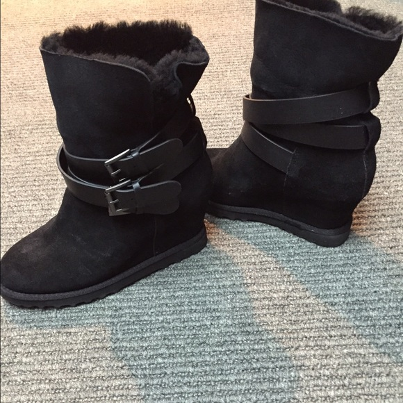 42 ash boots ash shearling wedge boots from