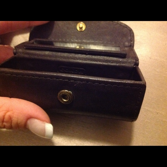 Coach Coach Brown Leather Lipstick Case Holder From Amy