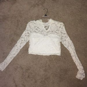 White crop long sleeve!