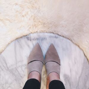 Alexander Wang Dina Mules in Buff