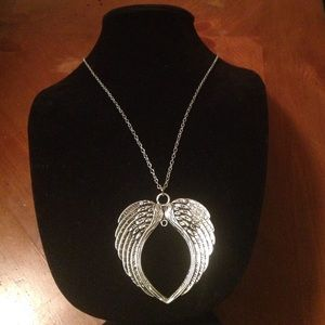 "Wings Silver Plated 24"" to 27"" Necklace"