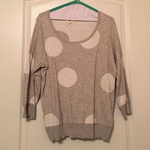 Anthropologie Polka Dotted Sweater
