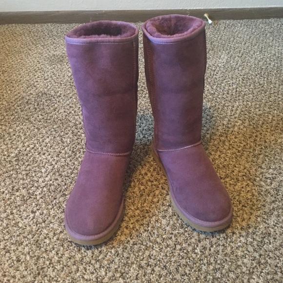 purple uggs tall