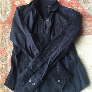 The Limited black buttoned long sleeve