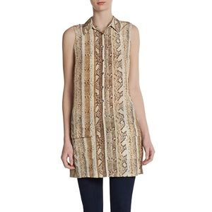 Equipment Tops - Equipment Python Print Tunic