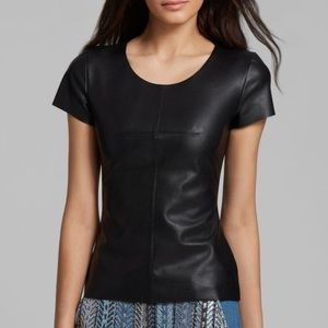 Calvin Klein Tops - Calvin Klein Leather Top