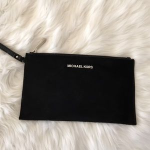 Michael Kors Black Hair-calf Clutch
