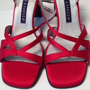 Hillard & Hanson Shoes - Red Satin Hillard&Hanson Princess Shoes