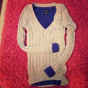 Gray American Eagle Sweater