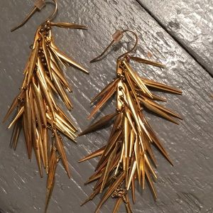 Alexis Bittar gold earrings