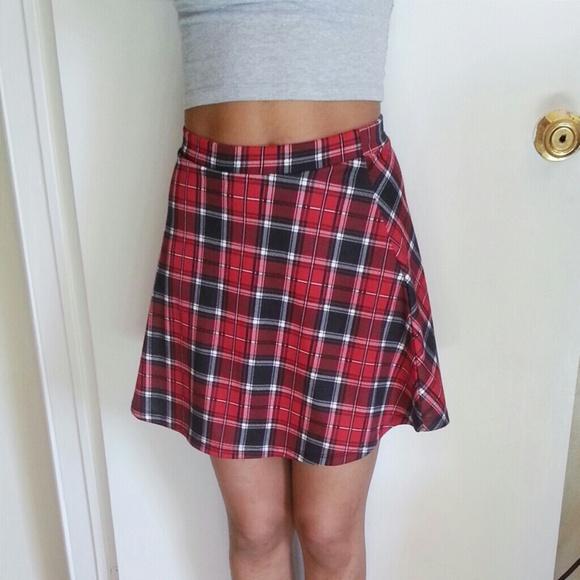 33% off Dresses & Skirts - Tumblr Girl Plaid Skirt from ...