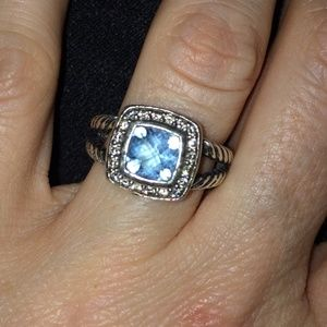 Authentic David Yurman blue topaz petite Albion.
