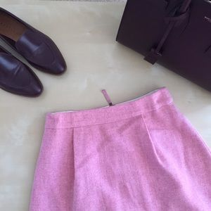 Jcrew pink wool skirt