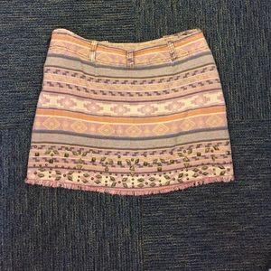 Free People sherbet Aztec canvas skirt