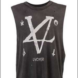 LVCIFERTON UNIF MUSCLE TANK- MEDIUM.