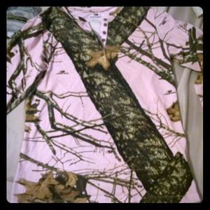 Mossy Oak Pink Camo Long Sleeve
