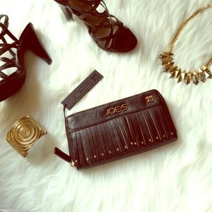 💛PM Editor Pick✨Joe's Black Fringe/Studded Wallet