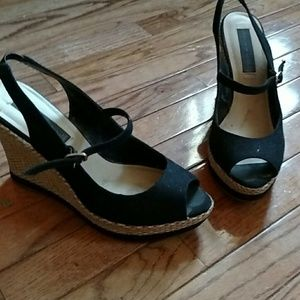 Steve madden peep toe mary jane wedges