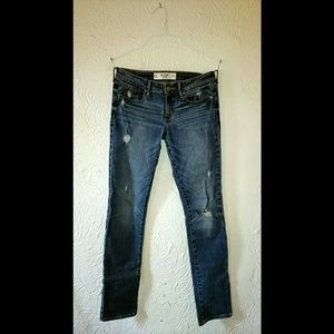 Abercrombie & Fitch distressed blue jeans