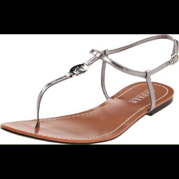 95f5200257ac Lauren by Ralph Lauren Aimon flat sandal Silver. M 550f3e29f0ec391d9a0c8acf
