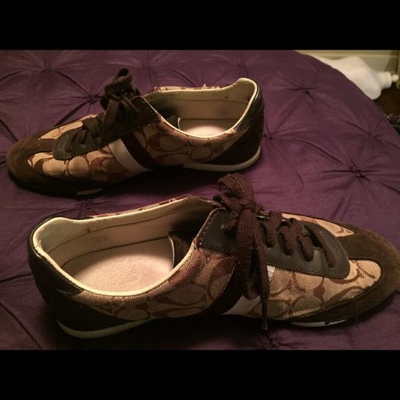 coach brown coach tennis shoes from amanda s closet on