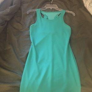 Teal Cutout Dress