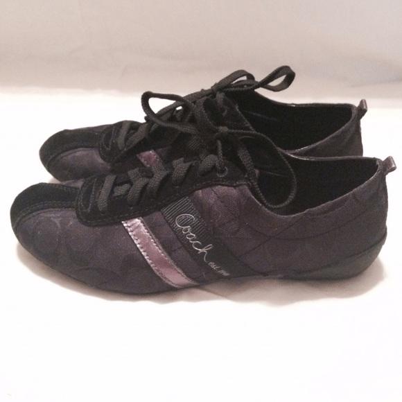 e42659484e61 Coach Shoes - COACH BELINA BLACK SIGNATURE SNEAKERS WOMENS SHOES
