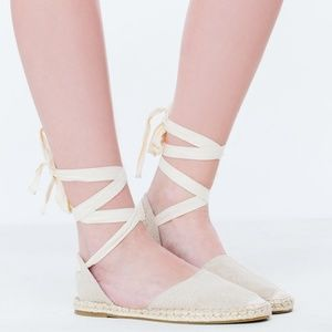 Shoes - D'Orsay Espadrille Flats