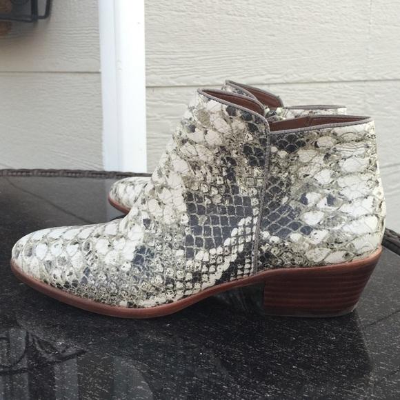 f9241843d214e Sam Edelman Python ankle boots leather booties. M 550f613fb4188e7f0100ec65
